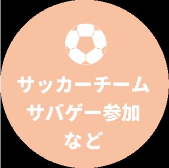 サッカーチーム・サバゲ―参加など